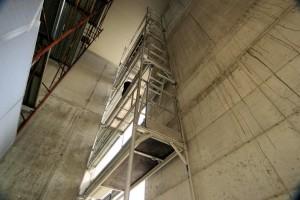 Ponteggio in alluminio lama particolarmente adatto per la ridotta dimensione dei piani.